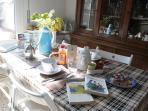 la cucina con colazione