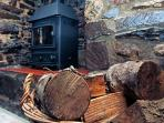 Stoke up the fire on cooler evenings