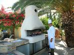 The Chef at work at the Villa.