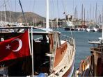 Bodrum harbour and international marina overlooked by the majestic St Peters Castle.