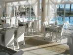 Superb restaurant with varied, very reasonably priced menu, dine inside, or outside by the pool.