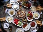 One of our favourites - a traditional Turkish breakfast - highly recommended!