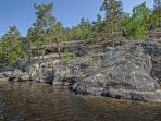 Cliffs at Päijänne National Park