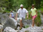 Tour along river in Dolomiti Park