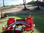 YOUR BEACH BUGGY 4 CHAIRS  3 COOLERS. FLOATS,  RADIO, BOOGIE BOARDS