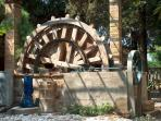 One of the many water wheels you will see around the island of Chios