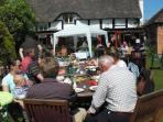 The SWAN garden is ideal for a party!