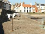 Cellardyke harbour on the Fife Coastal path
