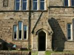 Front door of KERITH - built within an old Victorian school, dating from 1896.