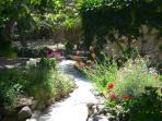 Garden path to the pool area