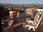 Balcony comfortable seating area, fantastic 180 panoramic views, sun all day.
