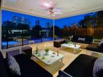 Enjoy nightime skyline views as you relax and unwind after a busy days sightseeing.