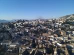 View of the Albaycin area from the Alhambra