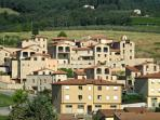Looking at Borgo di Gaiole from across the village
