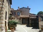 Characterful Chianti village architecture