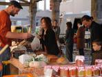 The local saturday market