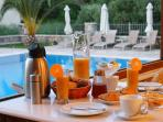 Harmony's rich breakfast (optional)
