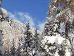 uno dei tanti panorami della nostra valle nella quiete dell'inverno