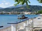 Seaside coffee-bar in Longos with wonderfull view to the village, 300 m from Harmony