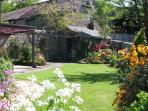 The pretty garden is idyllic all year round and fully enclosed.