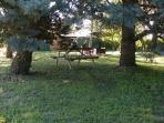 table pour jeu ou lecture dans le bois