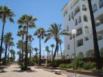 Beach promenade at Duquesa marina
