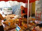 Local market selling Black pig ham