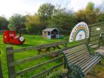 There is a communal Playground for young children with Wendy House, Play train, Play aeroplane etc.