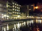 Xlendi Bay by night