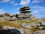 Rough Tor Peak on Bodmin Moor, a 30 minute walk from base to summit.