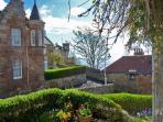 View as you stand in front door towards Castle Walk