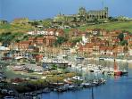 The abbey and fishing port of Whitby