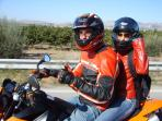 Your host and his wife along the road to the paradise (Marina di Ragusa)