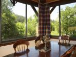Dining room with superb views