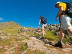The Llanberis route up Snowdon starts just 7 miles from the cottage