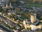 Loches aerial view