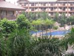 View of poolside from balcony...
