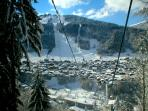 View of Morzine from Super M gondola (closest lift to the chalet)