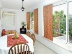 dining room in the apartman with private terace