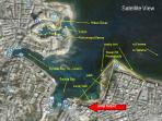 get oriented on Satellite view of St. Julian's Bay