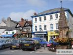 The Square in Holsworthy.  Full of shops, cafes and pubs