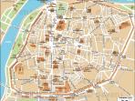 Plan de l'intra-muros d'Avignon