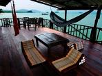 Relax in a hammock or low seating in Suite One