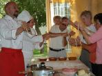cooking class in the family villa