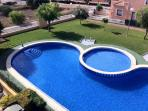 View of the pool from the Rooftop Solarium 2