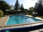 The attractive and very inviting pool, for your exclusive and secluded use