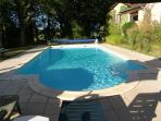 The shallow end of the sparkling pool