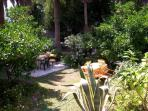Sitting sets in the garden
