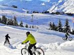 piste de vtt sur neige