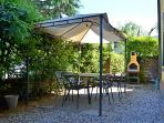 gazebo with barbecue for dinner al fesco